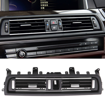 Chromed Left Right Console Grill Dashboard Dash AC Air Vent Replacement for BMW F10 F18 5 Series 2011-2017 RHD image