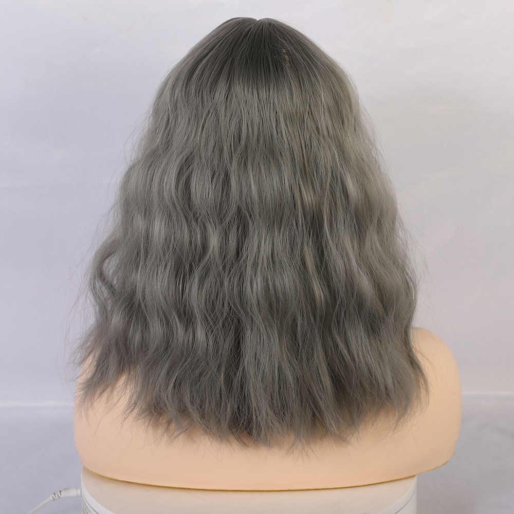 Perucas de cabelo sintético para mulheres africano americano cinza cinza cinza perucas de fibra resistente ao calor lolita cospay