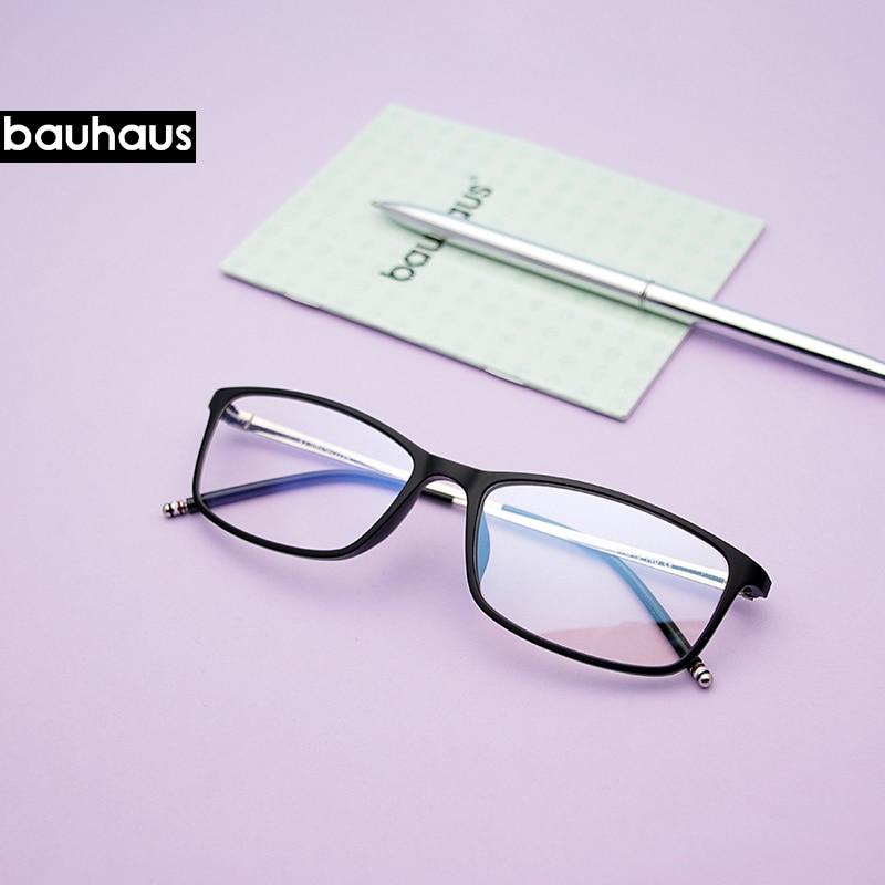 0310-11 Bauhaus Ultem Metal Slim Temple Eyeglasses Frame Durable Cheap Stylish Eyewear