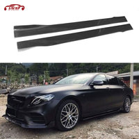 Carbon Fiber Door Protector Side Skirts Aprons for Benz C E S class W204 W205 W212 W213 W222 for BMW M2 M3 M4 M5 Car Styling
