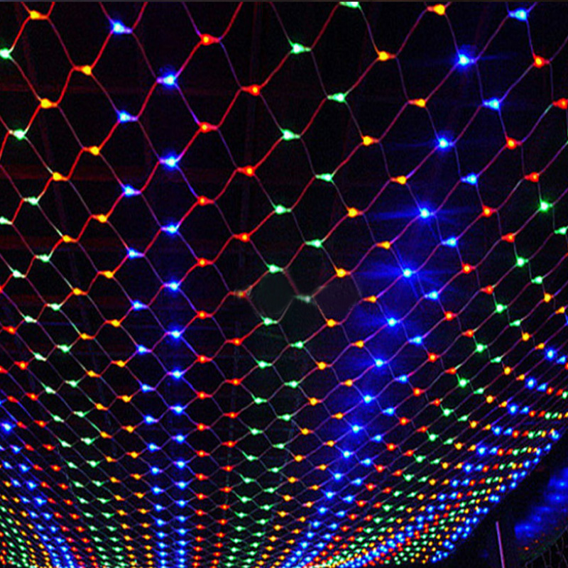 1.5MX1.5M 2x3M 4x6M Christmas Garlands LED String Christmas Net Lights Fairy Xmas Party Garden Wedding Decoration Curtain Lights