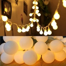 Chain Light Garland-Bulb Ball Outdoor Fairy Wedding Christmas-Party Home-Decor Waterproof