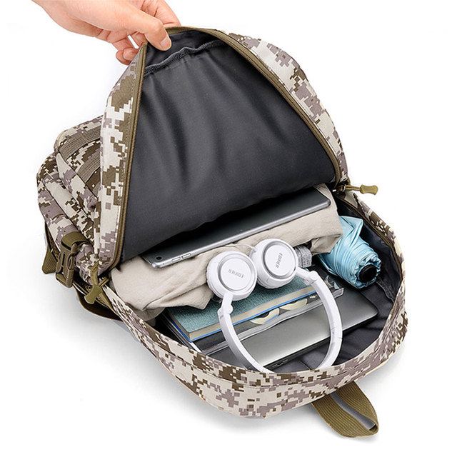 Jedi Survival Three-level Backpack Waterproof Climbing Bag Student Computer Package Camouflage Schoolbag 5