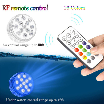 10 LED Submersible Light  LED Lights Multi Color Aquarium Lights With Magnet Suction Cups Underwater Night Lamp Battery Operated 16color submersible led lights aquarium light aaa battery ip68 waterproof 1m underwater led night light remote control d35
