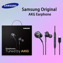 S9 אוזניות מקורי סמסונג IG955 סוג C באוזן עם מיקרופון עבור גלקסי a50 a70 a80 s8 s10 הערה 8 9 טלפון נייד אוזניות