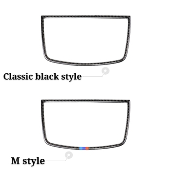 Car Styling Stickers Dashboard Speaker Decorative Panel Decoration Carbon Fiber for BMW E70 E71 X5 X6 2008-2013 Accessories image