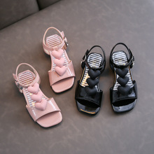 New Girls High Heels Children Shoes Baby Princess Summer Dance Comfortable Toddler Kids Student Open Toe Sandals 041