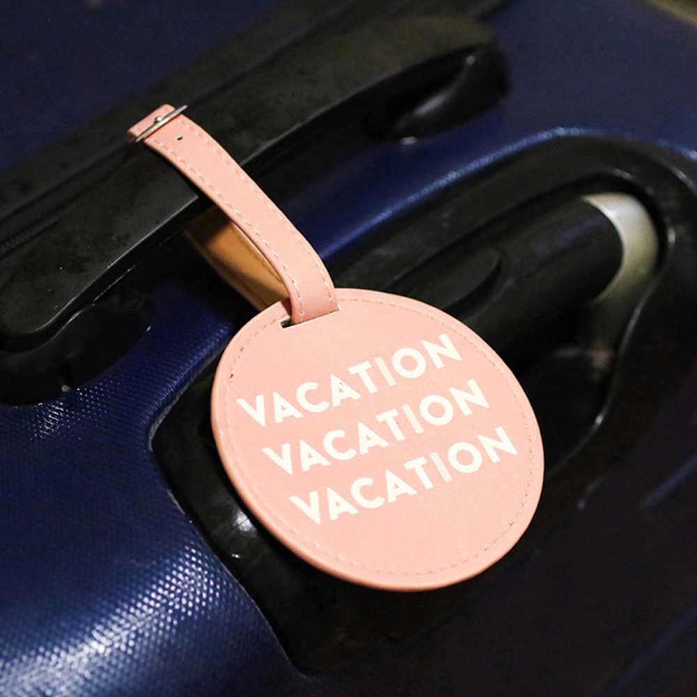 Zoukane, милые круглые бирки для багажа, чемоданы, сумка, прополка, идентификатор, аксессуары для путешествий, мужские ярлыки для багажа, новинка, скидка LT01