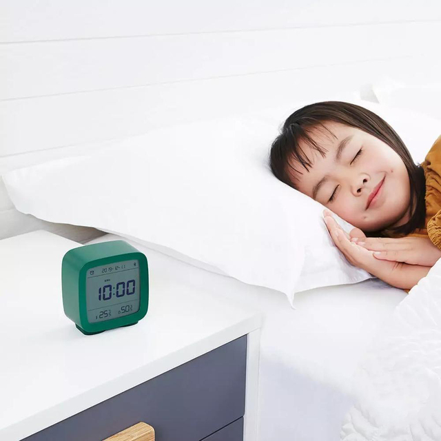 In stock Qingping Bluetooth Temperature Humidity Sensor Night Light LCD Alarm Clock Mihome App control Thermometer 3
