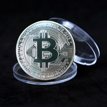 Pamiątka pozłacana moneta Bitcoin z okno akrylowe kolekcjonerska wielka prezent Bit moneta kolekcjonerska moneta metalowa pamiątkowa moneta tanie i dobre opinie CN (pochodzenie) Nowoczesne Galwanicznie Europa 2000-Present Maskotka 1 5mm Bitcoin Coin Silver Gold Coins Collectibles