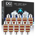 DXZ 10 шт. гирлянда 31 мм 36 мм/39 мм/41 мм C5W C10W светодиодный лампы 12SMD Canbus салона Карта купольный светильник Лампы для чтения светильник s 12V для авто...