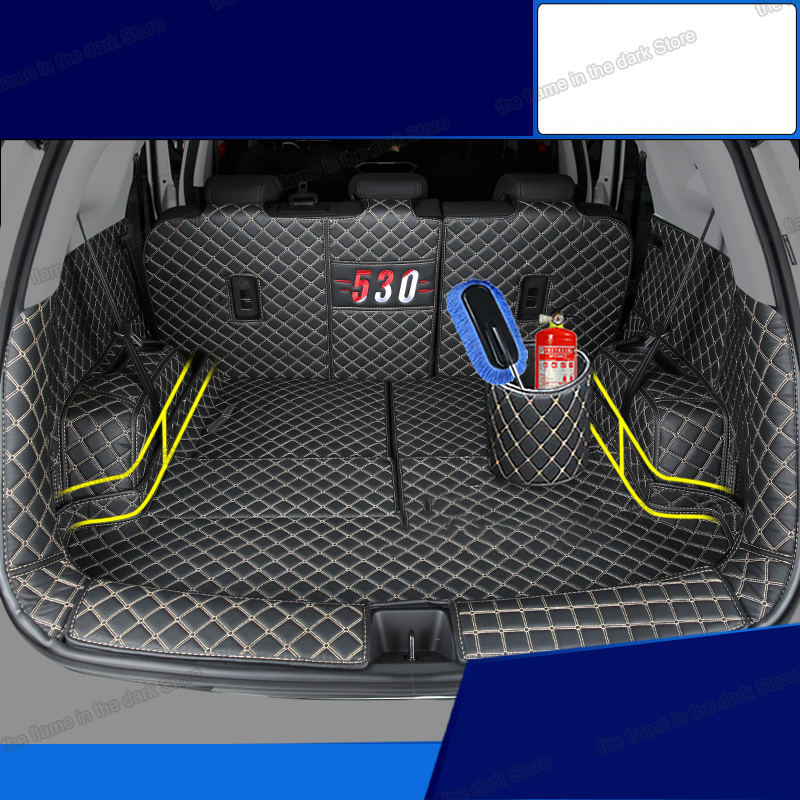 Lsrtw2017 Leather Car Trunk Mat Cargo Liner For Baojun 530 2017 2018 2019 2020