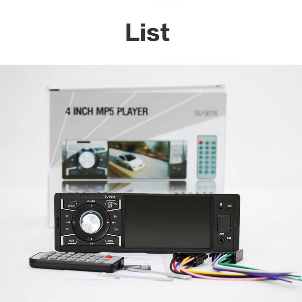 1 DIN Xe Đài Phát Thanh MP5 Nghe Âm Thanh Stereo FM Radio Bluetooth MP5 Người Chơi Máy Nghe Nhạc Đa Phương Tiện Hỗ Trợ Camera Phía Sau