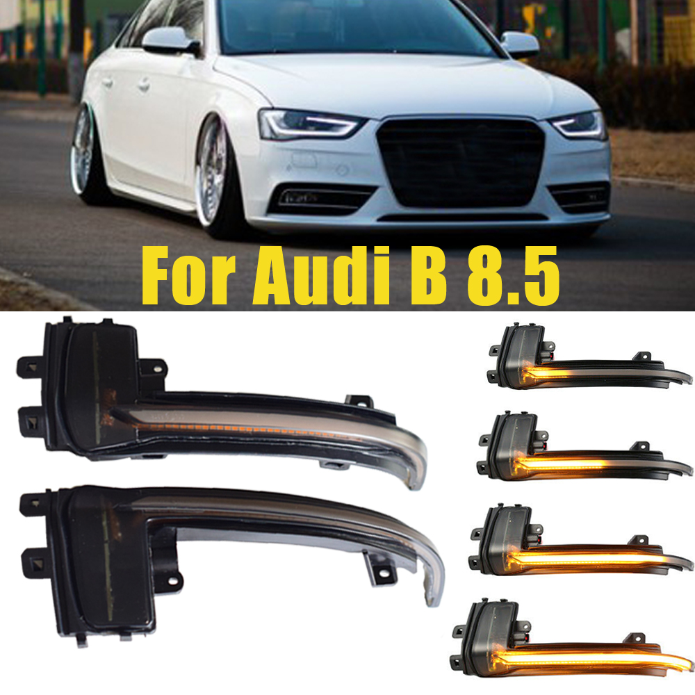 Side Mirror Flasher Light For <font><b>Audi</b></font> A4 A5 B8 B8.5 A3 8P Q3 A6 4F S6 <font><b>A8</b></font> <font><b>D3</b></font> 8K <font><b>LED</b></font> Dynamic Turn Signal Light Flowing Water Blinker image