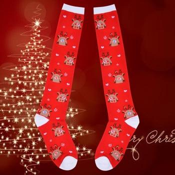 Best Deal 37361d Winner Christmas Compression High Quality Stockings Men Women Pressure Socks Print Pattern Running Knee High Nylon Run Socks Cicig Co