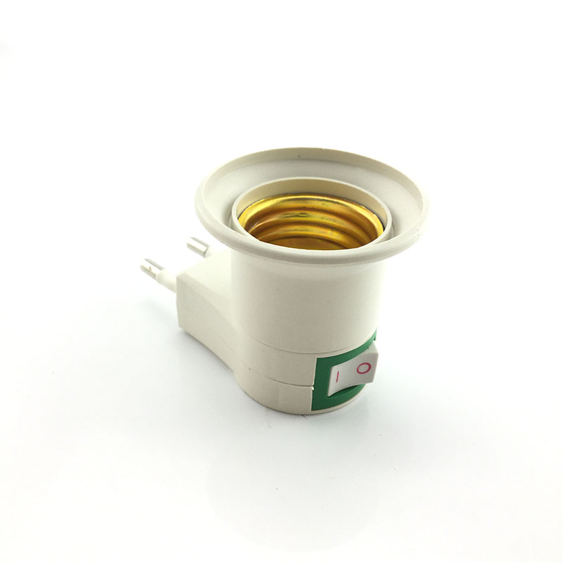 E27 Adapter Sochet Lamp Base Auto Rotating Converter for Bulb Lamps Holder Mini Stage Disco LED Light EU US AU Plug
