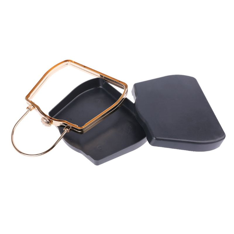 18cm Metal Box Purse Frame Handles for DIY Handbags Evening Bag Party Clutch in Bag Parts Accessories from Luggage Bags