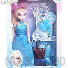 letsjoy Official Beauty fashion cartoon doll Frozen girl Princess elsa and Anna xmas gift toys for girlfriend kids action figure