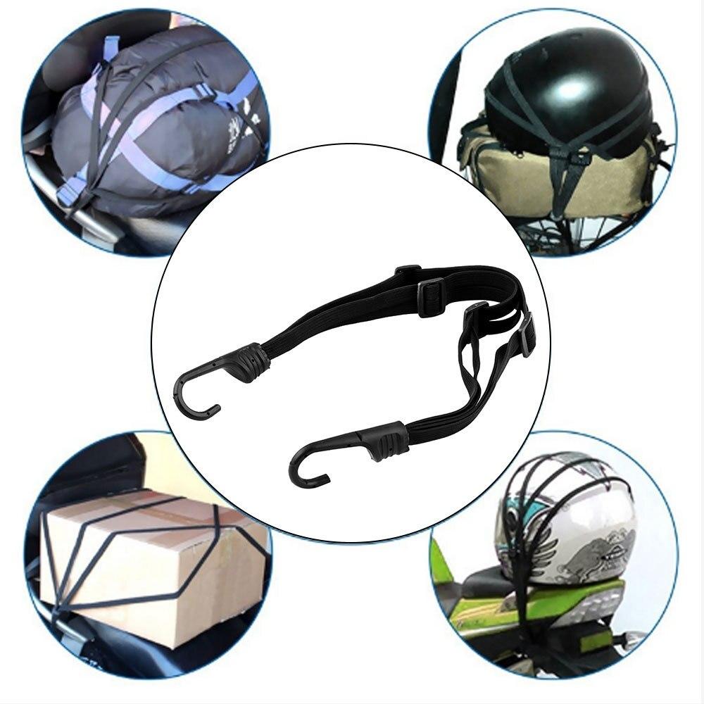 Moto Moto force élastique casque sangle bagages corde Bungee Cargo transporteur pour Honda Yamaha Scooter accessoires rétractable