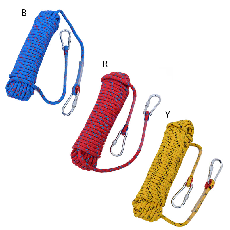 10mm Outdoor Climbing Rope 10 20M Rock Ice Climbing Equipment High Strength Survival Paracord Safety Rope Climbing Nylon Rope in Climbing Accessories from Sports Entertainment