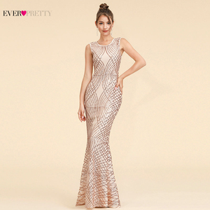 Image 1 - Sparkle Evening Dresses Long Ever Pretty EP07453BD A Line V Neck Ruched Elegant Burgundy Evening Gowns Abendkleider Lang 2020