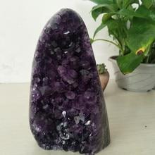 1950g High quality Uruguay stone amethyst geode crystal quartz cluster home decor display amethyste pierre naturelle