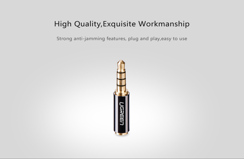 H23d613f19ed94ef69efaa42446a95ae7h Ugreen Jack 3.5 mm to 2.5 mm Audio Adapter 2.5mm Male to 3.5mm Female Plug Connector for Aux Speaker Cable Headphone Jack 3.5