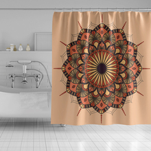 Indian Mandala Floral Print Shower Curtain Geometric Bohemian Waterproof Bathroom Curtain Wall Hanging Geometric Shower Curtain waterproof floral tree of life shower curtain