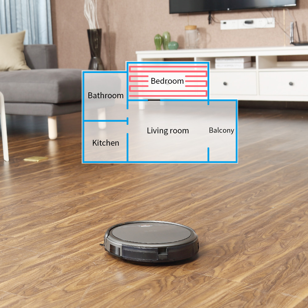 ILIFE A4s Robot Vacuum Cleaner Powerful Suction for Thin Carpet & Hard Floor Large Dustbin Miniroom Function Automatic Recharge 4