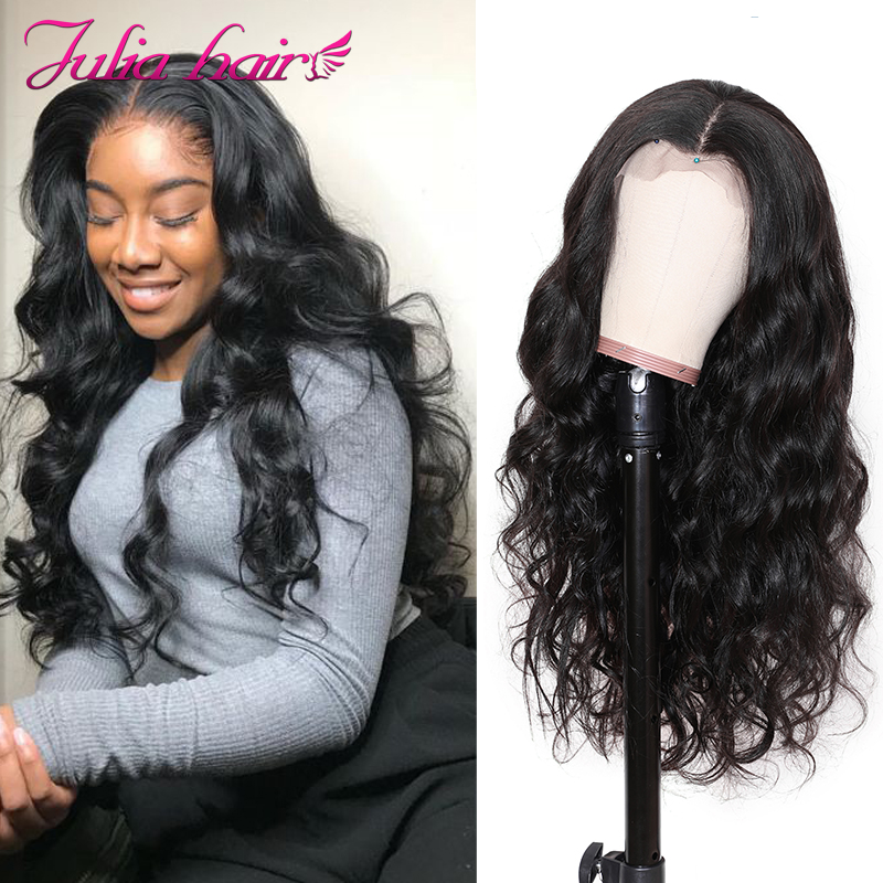 Ali Julia 13×4 13×6 Body Wave Transparent Lace Front Human Hair Wigs With Baby Hair 150% Density Remy Brazilian Hair Wig