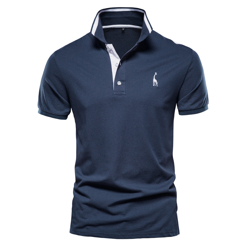 New Summer High Quality Men Polo Shirts Casual Business Social Short Sleeve Mens Shirts Stand Collar Embroidery Polo Shirt Men