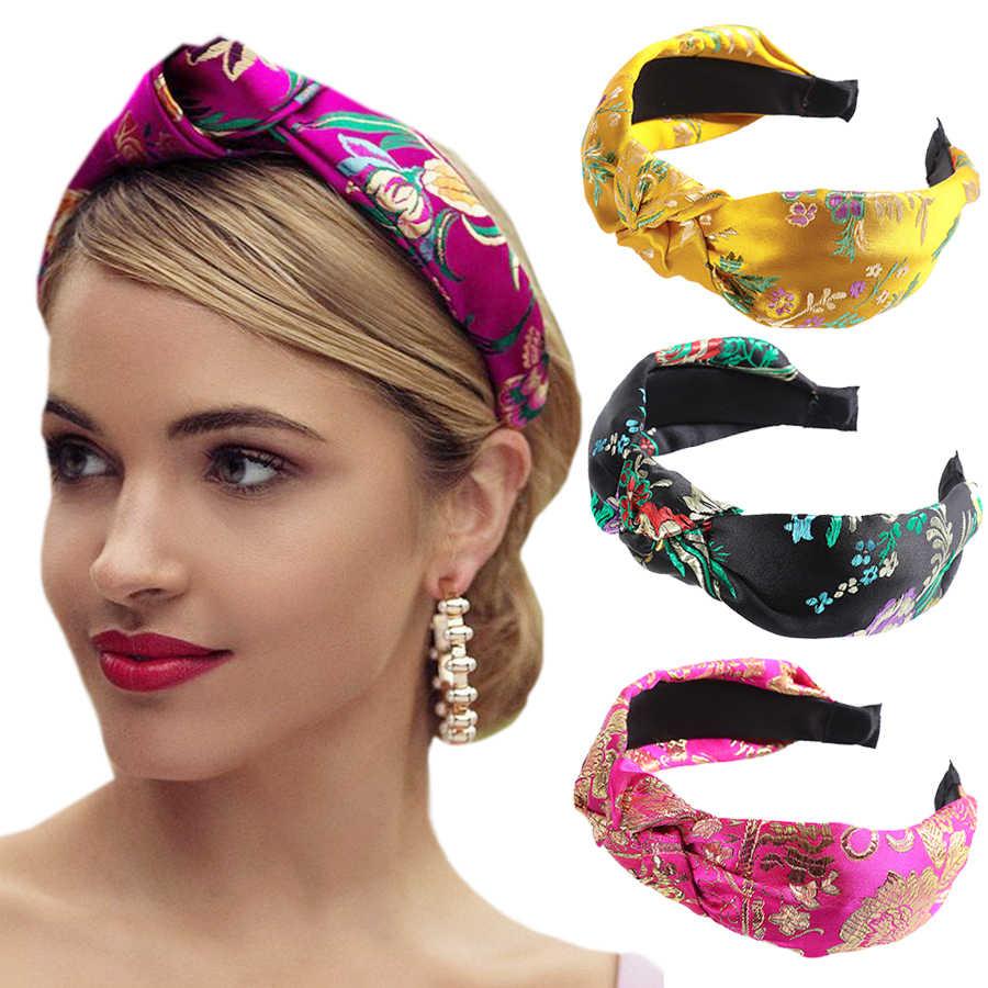Haimeikang 2020 New Fashion Lace Crystal Flower Hairband Rhinestone Headband  For Women Knot Hair Band Hair Accessories Women's Hair Accessories  -  AliExpress