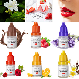 5ml Pure Natural Flavouring Fragrance Essential Oils for Lip Gloss DIY Food Grade Flavor Cosmetic Use Lavender Rose Smell