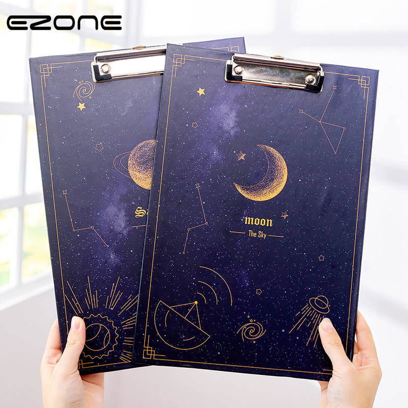 WARMOM A4 Clipboard Writing Pad File Folder Folder Writing Board  Office File Clipboard Creative Starry Sky Clipboard Stationery