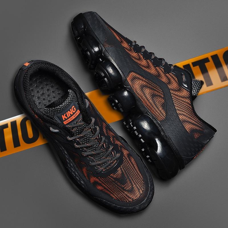Size39-46 Для мужчин кроссовки дышащая Уличная обувь из сетчатого материала; Тренировочная обувь; Туфли без каблуков повседневная обувь на толс...