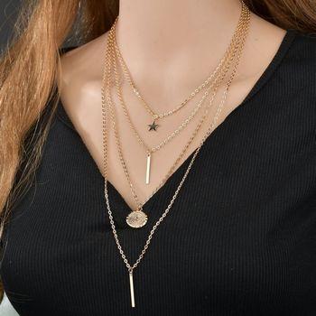 Women's Pendants Wild Casual Vintage Multilayer Necklace Alloy Necklace Pandent Necklace подвеска чокер 1