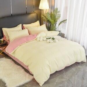 Image 5 - 1Pc 100% Katoen Dekbedovertrek Effen Kleur Queen King Size Dekbedovertrek Enkel Dubbel Bed Hotel Thuis Beddengoed Artikel gratis Verzending