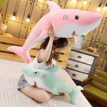 New Lovely Big Size Funny Shark Plush Toy Soft Cartoon Fish Stuffed Doll Sofa Pillow Cushion Appease Toy High Quality Kid Gift стоимость