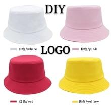 Custom Logo Bucket Hat DIY Printing Embroidery Adult Children High-quality Leisure Travel Fishing Summer Autumn Cotton Hat