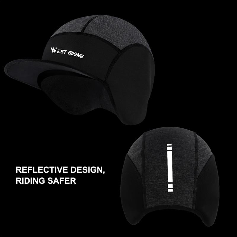 Winter Fleece Cycling Caps Outdoor Sports MTB Bike Hats Snow Skull Caps