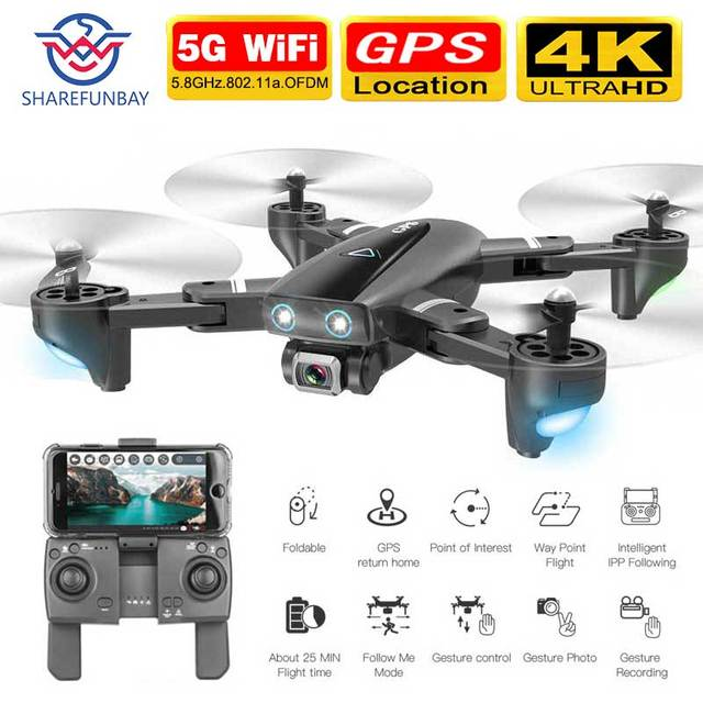 $ US $45.99 GPS RC Drone With Camera 5G RC Quadcopter Drones HD 4K WIFI FPV Foldable Off-Point Flying Photos Video Dron Helicopter Toy