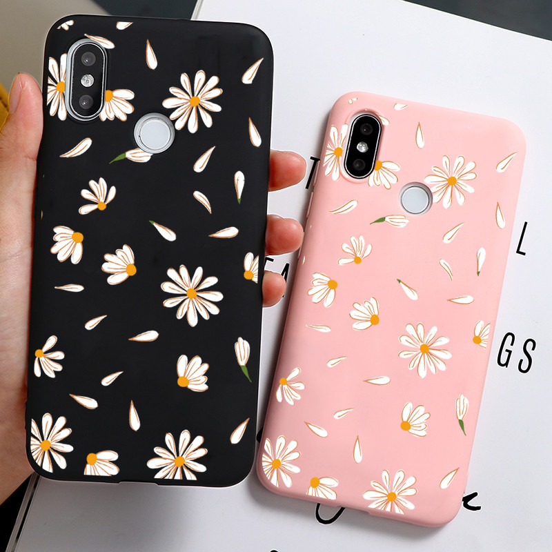 Candy Color Daisy Flower Matte Case For Xiaomi Redmi Note 9 8 8T Pro 9S 4X 5 Plus 5A 6 7 S2 7A 8A 6A K20 K30 Pro TPU Back Cover