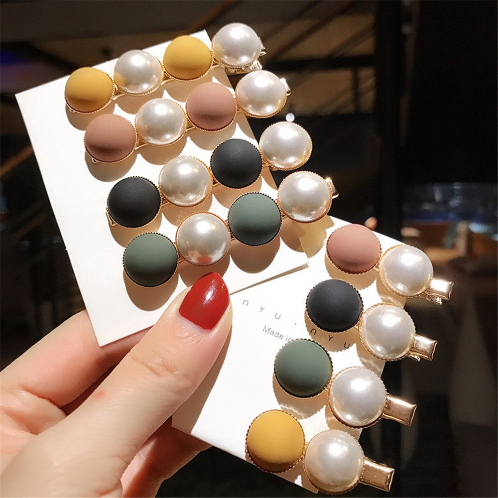 Candy Scrub Bead Hairpin Sweet Imitiation Pearl Korean Hair Clips Fashion Hair Accessories For Women Beads Hairpins