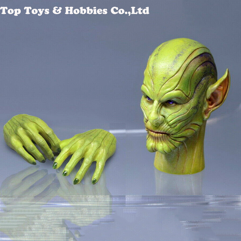 1:6 Male Head Sculpt 1/6 Scale TOSY ERA 026 Skrull Talos Head Sculpt Head Carved Model Toys Fit 12