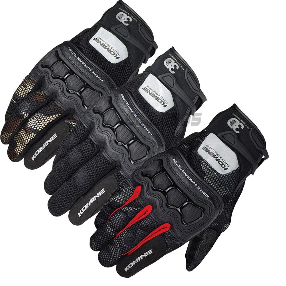 Komine GK-215 Summer 3D Mesh Protective Gloves Motorbike MTB Bike Off-road Motorcycle Glove