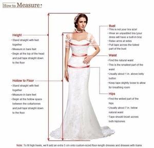 Image 5 - Sodigne 長袖のウェディングドレス 2020 ビーチの花嫁衣装シフォンレースアップリケウェディングドレスホワイト/アイボリーロマンチックなボタン