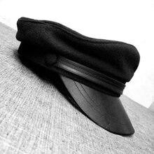 Новые зимние шапки в стиле милитари дикая шерстяная плоская