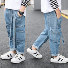 цены Boy's jeans trousers Children's clothing boys jeans spring and autumn children denim pants 4 5 6 7 8 9 10 11 12 13 years old