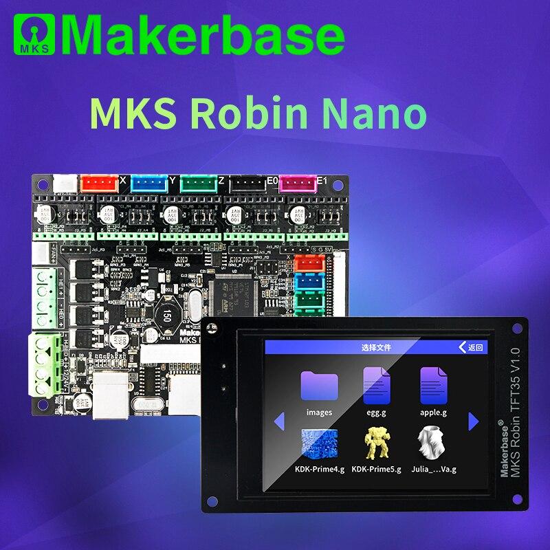 Makerbase MKS روبن نانو V1.2 32Bit لوحة تحكم ثلاثية الأبعاد أجزاء الطابعة دعم Marlin2.0 3.5 شاشات تعمل باللمس tft معاينة Gcode