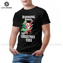 Santa Claus Tshirt Cute Cotton Short Sleeve T Shirt Graphic Classic Tee Shirt Man 5xl